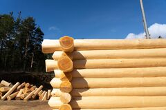 Ethnic wooden log cabin new manufacturing process