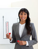Ethnic young businesswoman reporting sales figures Stock Photos