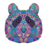 Ethnic Zentangle Ornate HandDrawn Panda Bear Head. Painted Doodle Animal Stock Photos