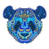 Ethnic Zentangle Ornate HandDrawn Panda Bear Head.  Royalty Free Stock Photo