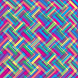 Ethnic zigzag pattern in retro colors Stock Images