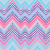 Ethnic zigzag pattern in retro colors, seamless vector Stock Images