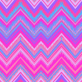 Ethnic zigzag pattern in retro colors, seamless vector Royalty Free Stock Photography