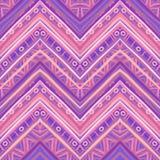 Ethnic zigzag pattern in retro colors, seamless vector Stock Photos