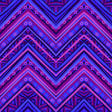 Ethnic zigzag pattern in retro colors, seamless vector Stock Photography