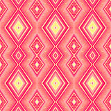 Ethnic zigzag pattern in retro colors, seamless vector Royalty Free Stock Photo