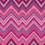 Ethnic zigzag pattern in retro colors, seamless vector backgroun Royalty Free Stock Images