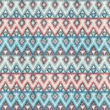 Ethnic zigzag tribal seamless pattern Stock Photo