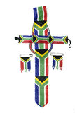 Ethnic Zulu Beads Threaded in the Colors of the South African Fl Stock Image