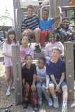 Ethnically diverse group of children Royalty Free Stock Photo