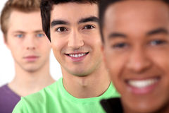 Ethnically diverse group of men Royalty Free Stock Photography