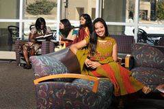 Ethnically Diverse Group of Women in Traditional Clothing stock images