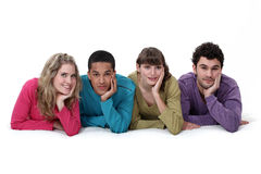 Ethnically diverse group of young people Royalty Free Stock Photo