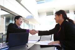 Ethnice Business Team Handshake Stock Image