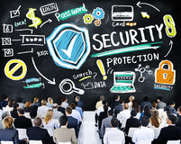 Ethnicity Business People Security Protection Conference Seminar Stock Image