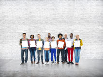 Ethnicity Casual People Standing Cheerful Concept.  Stock Photos