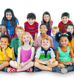 Ethnicity Diversity Gorup of Kids Friendship Cheerful Concept.  royalty free stock images