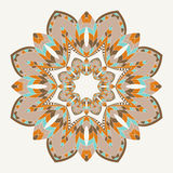 Ethnicity floral  round ornament. Royalty Free Stock Image