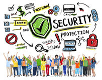 Ethnicity People Cheerful Winning Security Protection Concept Royalty Free Stock Image