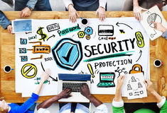 Ethnicity People Conference Discussion Security Protection Conce Stock Image
