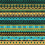 Ethnicity seamless pattern. Boho style. Ethnic wallpaper. Tribal art print. Old abstract borders background texture Stock Image