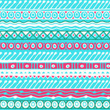 Ethnicity seamless pattern. Boho style. Ethnic wallpaper. Tribal art print. Old abstract borders background texture Stock Photos