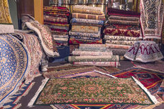 Ethnics地毯商店 免版税库存图片