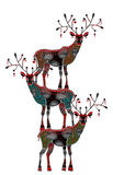 Ethnics. Ethnic deer on their backs to each other on a white background Royalty Free Stock Photography
