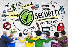 Ethnie-Leute Team Togetherness Security Protection Concept Lizenzfreies Stockbild