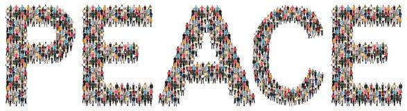 Ethnie multi paisible de paix de personnes Images stock