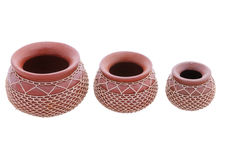 Ethnip pots  in a row Stock Image