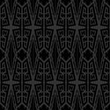 Ethnische Art des nahtlosen abstrakten Vektorbeschaffenheits-Musters im Monochrom Stockfotografie