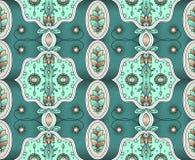 Ethnische Auslegung Indisches Muster Ethnischer Hintergrund Verschiedene Varianten der Farbe sind möglich stock abbildung