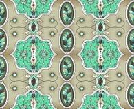 Ethnische Auslegung Indisches Muster Ethnischer Hintergrund Verschiedene Varianten der Farbe sind möglich lizenzfreie abbildung