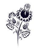 Ethnische Blume des Vektors, Blumenverzierung Lizenzfreie Abbildung