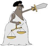 Ethnische Dame Justice Lizenzfreie Stockbilder