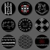 Ethnische Dekorationen und Symbole Lizenzfreie Stockfotos