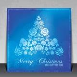 Ethnische dekorative Weihnachtskarte lizenzfreie abbildung