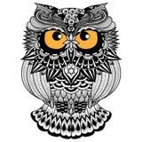 Ethnische Eule/afrikanisch/Inder/Totem für Hemddesign, -logo und -ikone Lizenzfreie Stockbilder