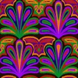 Ethnische Hand gezeichnetes nahtloses Muster Stockbild