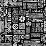 Ethnische handgemachte Verzierung, nahtloses Muster für Stockfotografie