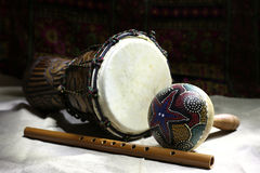 Ethnische Instrumente stockbild