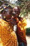 Ethnische Karamojong Frauen, Karamoja, Uganda stockfotos