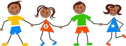 Ethnische Kinder Lizenzfreie Stockbilder