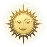 Ethnische lachende Sonne Stockbild