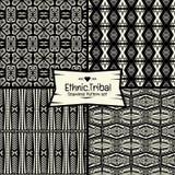 Ethnische Modellserie des nahtlosen abstrakten Vektors im Monochrom Lizenzfreies Stockbild