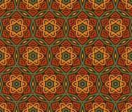 Ethnische moderne geometrische nahtlose Musterverzierung Lizenzfreie Stockfotografie