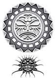 Ethnische Stammes- Vektorillustration Sun Lizenzfreies Stockfoto
