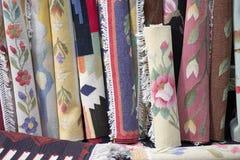 Ethnische traditionelle Teppichbeschaffenheit Stockbild
