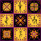 Ethnische Verzierung mit stilisierten Zahlen Stockfotos